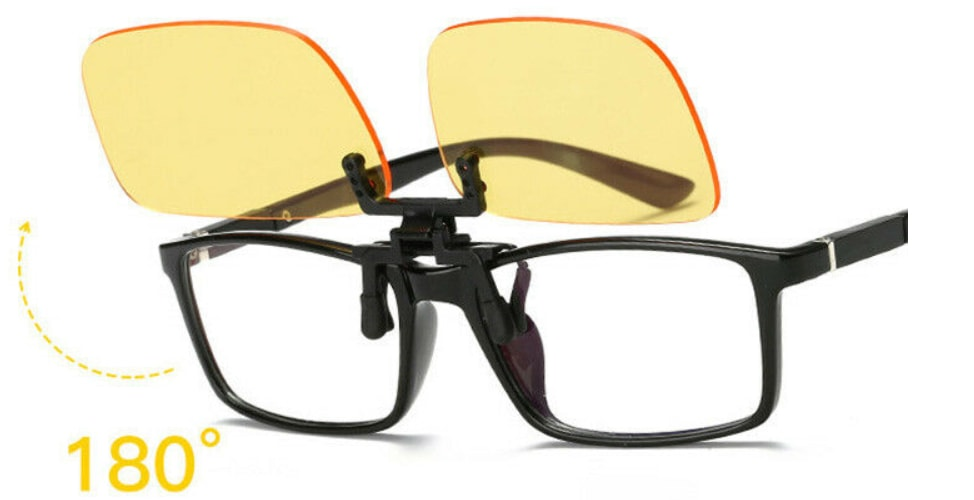 anti blue light clip-on glasses